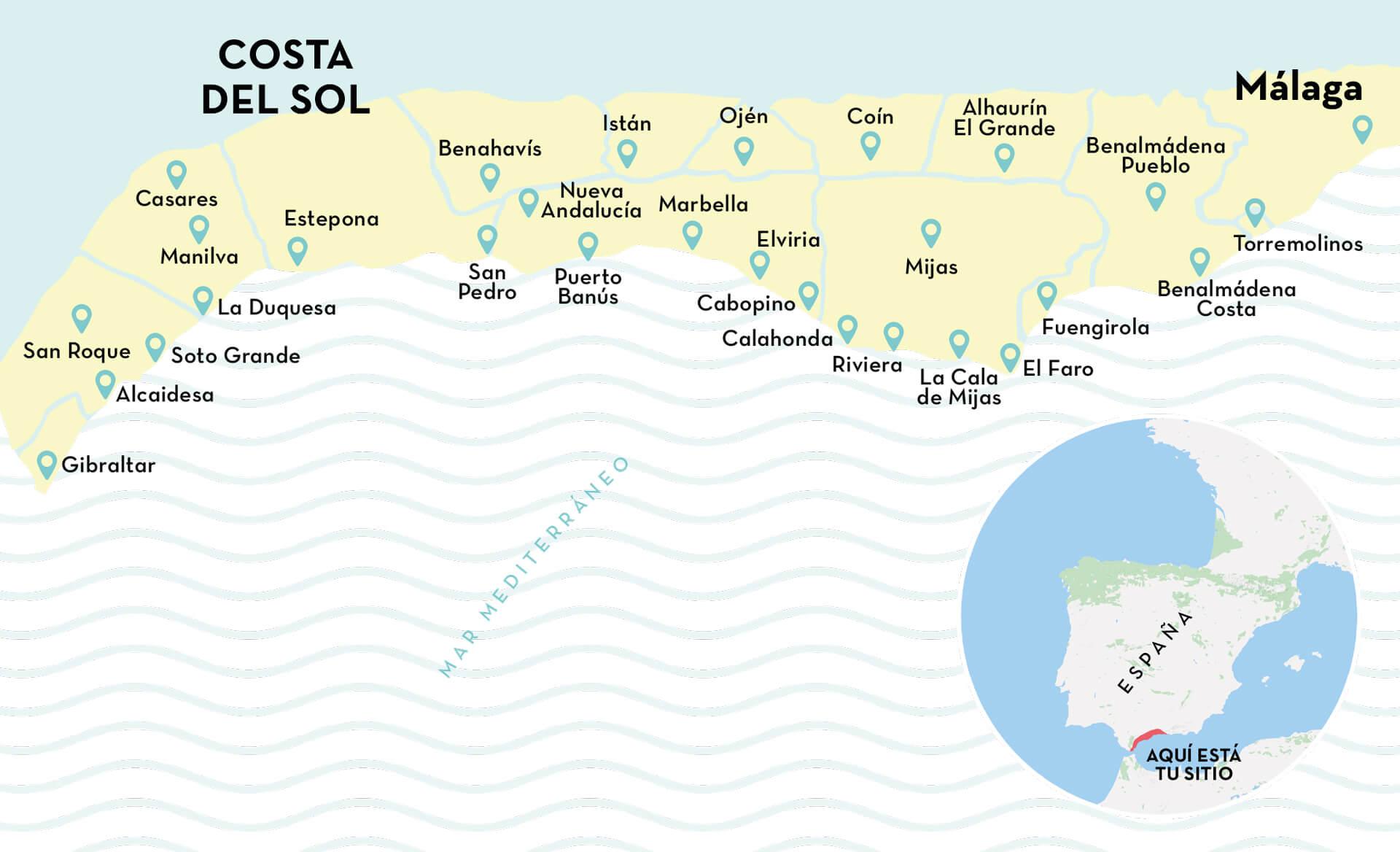 costa del sol map